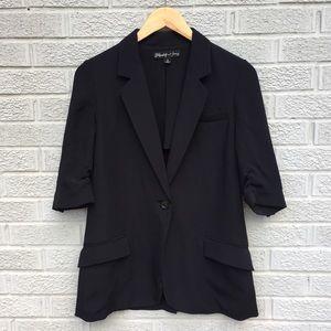 Elizabeth & James Short Sleeve Blazer - Black